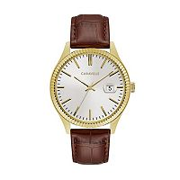Caravelle Men's Leather Watch - 44B115