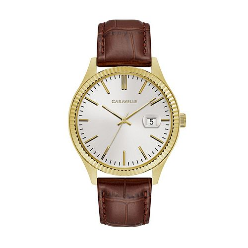 Caravelle by Bulova Men's Leather Watch - 44B115