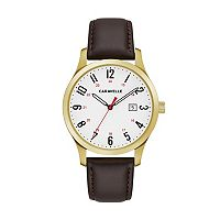 Caravelle Men's Easy Reader Leather Watch - 44B116