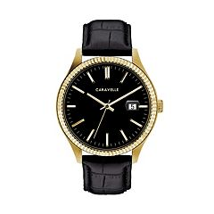 Caravelle Men's Leather Watch - 44B118