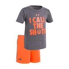 Baby Boy Under Armour 'I Call The Shots' Basketball Graphic Tee & Shorts Set