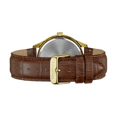 Caravelle Men's Leather Watch - 44B119