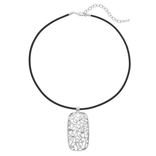 Napier Filigree Pendant Necklace