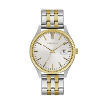 Caravelle Men's Two Tone Stainless Steel Watch - 45B148