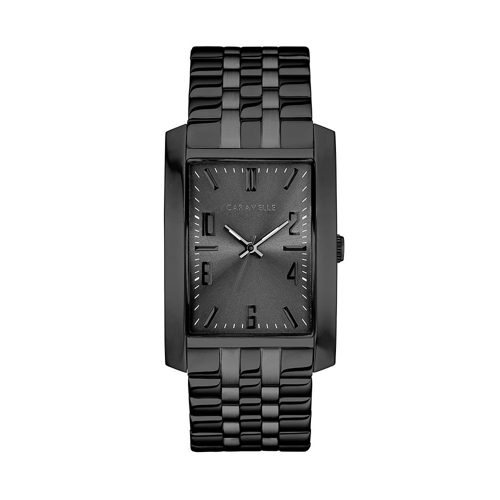 Caravelle by Bulova Men's Black Ion-Plated Stainless Steel Watch - 45A140
