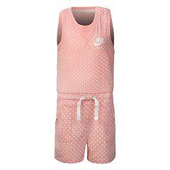 Girls 4-6x Nike Polka-Dot Romper