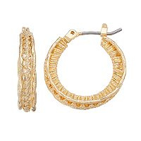 Napier Crinkle Texture Multi Hoop Earrings
