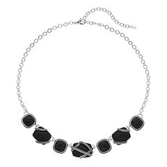 Napier Banded Stone Statement Necklace