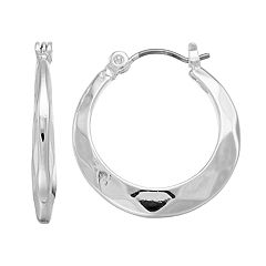 Napier Wavy Tapered Hoop Earrings