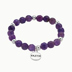 love this life Amethyst 'Faith' Stretch Bracelet