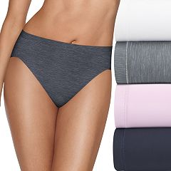 Hanes Ultimate 4-pack + 1 Bonus Microfiber Cool Comfort Hi-Cut Panties HXMFHB