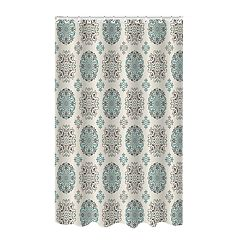 Bath Bliss Medallion Dobby Weave Shower Curtain