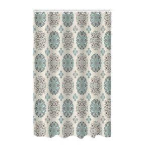 Bath Bliss Medallion Dobby Weave Shower Curtain