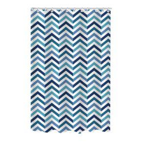 Bath Bliss Chevron Dobby Weave Shower Curtain