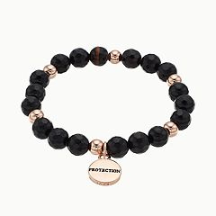 love this life Agate 'Protection' Stretch Bracelet