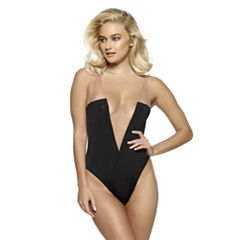 Women's Jezebel Deep V Basic Instinct Bodysuit