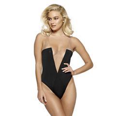 Women's Jezebel Deep V Basic Instinct Bodysuit