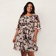 Plus Size LC Lauren Conrad Floral Dress