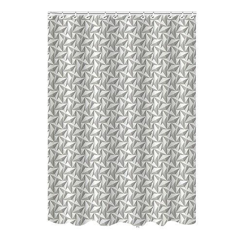 Bath Bliss Geometric Jacquard Shower Curtain