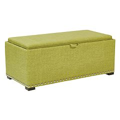 Ave Six Florence Storage Bench & Cube 3-piece Set
