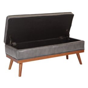 Ave Six Katheryn Upholstered Storage Bench
