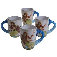 Certified International Sea Beauty 4 pc Mug Set