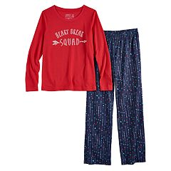 Girls 7-16 Jammies For Your Families 'Heart Break Squad' Top & Heart & Arrow Bottoms Pajama Set