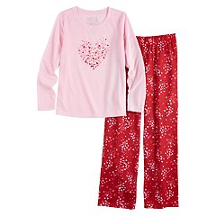 Girls 7-16 Jammies For Your Families Heart Graphic Top & Bottoms Pajama Set
