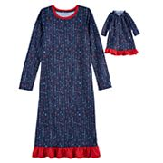 Girls 4-16 Jammies For Your Families Heart & Arrow Nightgown & Doll Nightgown Set