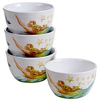 Certified International Sea Beauty 4 pc Ice Cream Bowl Set