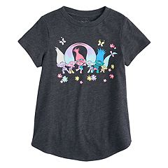 Girls 4-10 Jumping Beans® DreamWorks Trolls Poppy, Creek & Smidge Tee