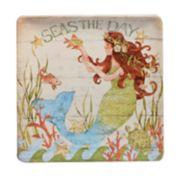 Certified International Sea Beauty Square Platter