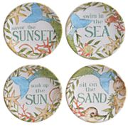 Certified International Sea Beauty 4 pc Canape Plate Set