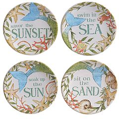 Certified International Sea Beauty 4-pc. Canape Plate Set