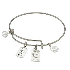 love this life 'Love' Charm Bangle Bracelet