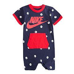 Baby Boy Nike Logo Ball Romper