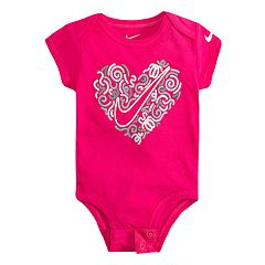 09c9afb9 Baby Girl Nike Heart & Swoosh Graphic Bodysuit