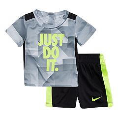 Baby Boy Nike 'Just Do It.' Abstract Top & Shorts Set
