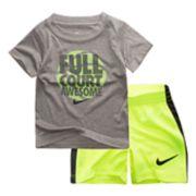 "Baby Boy Nike ""Full Court Awesome"" Graphic Tee & Shorts Set"