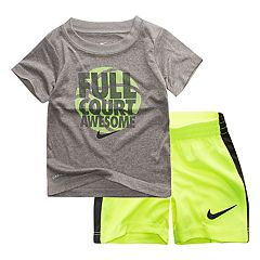 Baby Boy Nike 'Full Court Awesome' Graphic Tee & Shorts Set