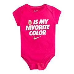 Baby Girl Nike 'Gold Is My Favorite' Graphic Bodysuit