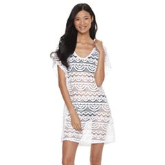 Women's Miken Solid Crochet Cover-Up