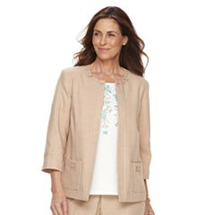 Women's Alfred Dunner Studio Embellished Open-Front Jacket