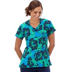 Women's Jockey Scrubs Print V-Neck Top