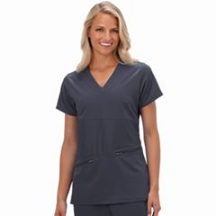 Plus Size Jockey Scrubs Performance RX Reverse Panel V-Neck Top