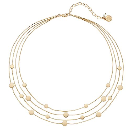 Dana Buchman Disc Multi Strand Station Necklace