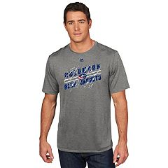 Men's Majestic Columbus Blue Jackets Drop Pass Tee