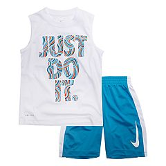 Baby Boy Nike 'Just Do It.' Doodles Muscle Tee & Shorts Set