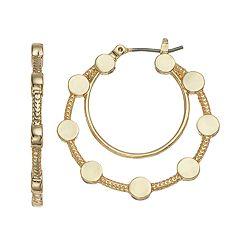 Dana Buchman Disc Double Hoop Earrings