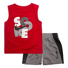 Baby Boy Nike 'Score' Muscle Tee & Logo Shorts Set